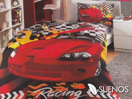 Lenjerie Single Car Racing (Bumbac Poplin)