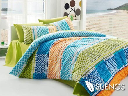 Lenjerie Single Fashion Verde (Bumbac 100%)