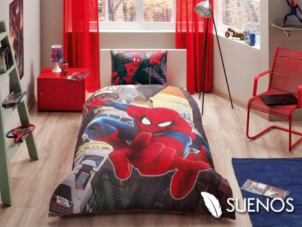 Lenjerie Single Spider-Man City (Bumbac 100%)