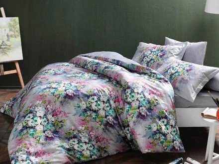 Lenjerie King Size Delft Lila (Satin Deluxe)